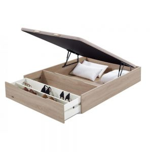 oferta Canape Abatible Madera con zapatero 25 3D de Flex Natural abierto