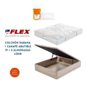 Colchon Habana Canape Abatible 19 Almohada Lider